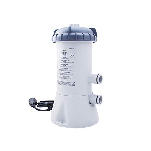 HEYJUDY Bomba de filtro de piscina 530 GPH bomba de cartucho de filtro fácil de instalar, doble…