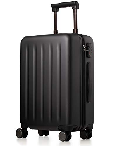 NINETYGO Large Luggage with Spinner Wheels, 100% Polycarbonate Hardside, Luggage, Rolling Suitcase with TSA Lock for Travel & Business Trip, Super Durability & Easy Maneuverability (28-Inch Black)