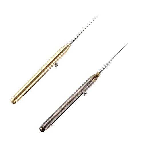 COKAMOZ Cóctel amistoso reutilizable Eco del dispensador del tenedor del palillo de dientes con el empuje