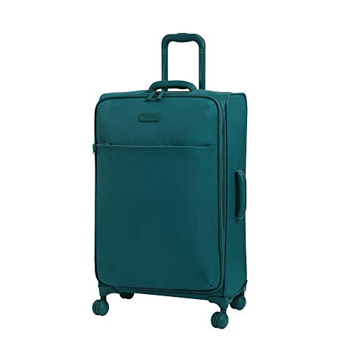 it luggage Lustrous Lightweight Expandable Spinner Wheels, Harbor Blue, Checked-Medium 28-Inch
