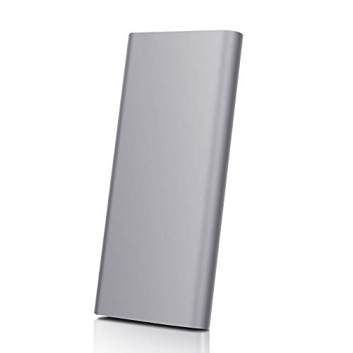 2TB External Hard Drive, Ultra Slim Hard Drive Portable Hard Drive Type-C HDD for Mac, PC, Xbox one (2TB, Grey)
