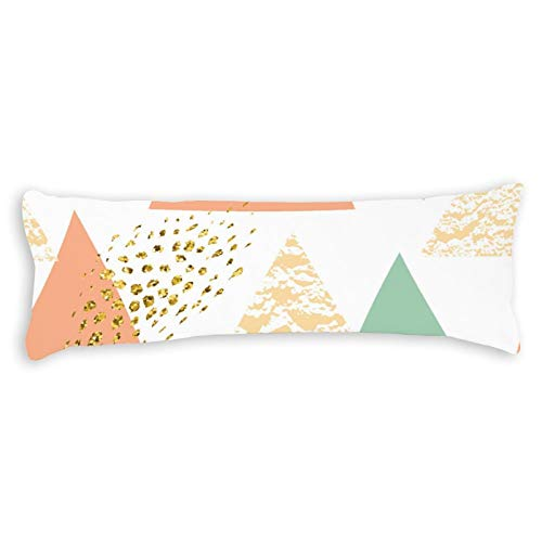 happygoluck1y Fundas de almohada abstractas dibujadas a mano geométricas sin costuras, 5 pies para adultos, fundas de almohada corporal, fundas de terciopelo de 50 x 150 para cama y adolescentes