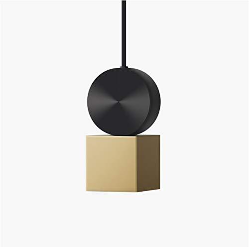 ZZKDBS Lámpara de restaurante nórdica, lámpara de araña de una sola cabeza de acero inoxidable, lámpara de lámpara moderna de columna