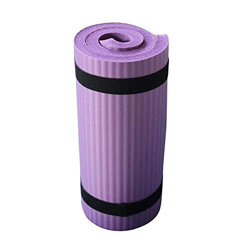 MLZYKYJZ Mini Tappetino Yoga Pilates Antiscivolo 15mm, Spessa Imbottitura per Cuscino ausiliario, Attrezzatura da Palestra per Donne o Uomini (Viola)