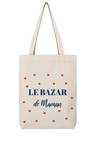 Tshirt corner Tote Bag - Le Bazar De Maman - Cadeau Fêtes Des Mères - (Écru)