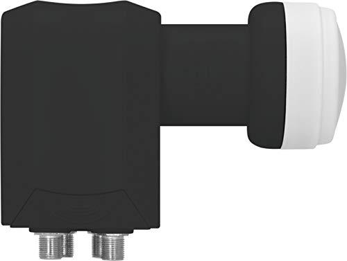 TechniSat Universal-Quattro-Switch-LNB 40mm-Feedaufnahme (für max. 4 Teilnehmer, Empfang einer Orbitposition, LTE-Störsicher, vier Legacy-Ausgänge) schwarz