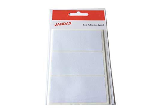 Lot de 21 Blanc 34 x 75 mm étiquettes rectangulaires – Adhésif Stickers