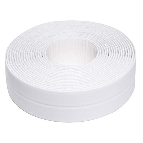 FEVESOT Caulk Strip PE Self Adhesive Tape,Tub Caulking Kitchen Tape,Waterproof Sealing Bathtub Caulk Strips for Kitchen Countertop Bathroom Shower Toilet Sink Gas Stove Wall Corner (1-1/2' x 11')
