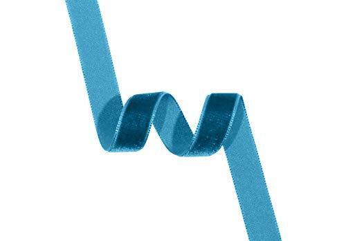 ¡Es bonito! Cinta de terciopelo, nailon, azul turquesa, 16 mm
