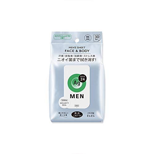 Ag Deo 24 Mens Body Sheet 30 pcs - Citrus (Green Tea Set)