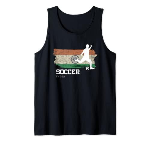 Fútbol India Bandera Equipo de fútbol Jugador de Camiseta sin Mangas