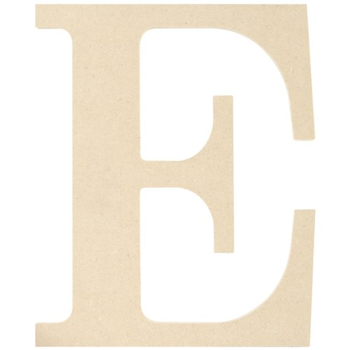 MPI MDF Classic Font Wood Letters and Numbers, 9.5-Inch, Letter E