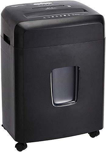 AmazonBasics - Trituradora de papel de corte cruzado con capacidad para 18hojas, para papel, CD y tarjetas de crédito