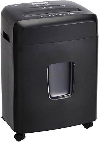 Amazon Basics 18-Sheet Cross-Cut Paper, CD, and Credit Card Shredder