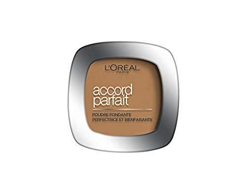 L'Oréal Paris - Poudre Fondante Accord Parfait - Peaux Normales à Mixtes - Teinte : Ambre Doré (7.D) - 9 g
