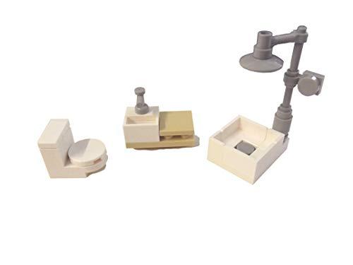 LEGO® Zusammenstellung Badezimmer Minifiguren inklusive Toilette, Dusche, Waschtisch