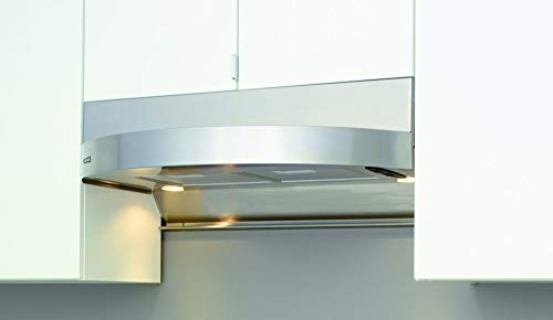 Zephyr ZTA-E36AS 400 CFM 36 Inch Wide Stainless Steel Under Cabinet Range Hood with Halogen Light, Stainless Steel