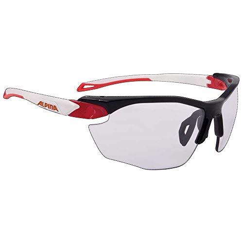 ALPINA TWIST FIVE HR VL+ Sportbrille, Unisex– Erwachsene, black-red-white, one size