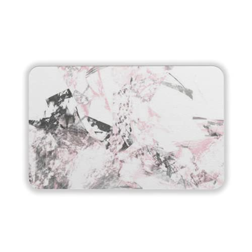 Tapete para Piso, tapetes de Bienvenida de Caucho Natural Duradero ,Abstract Grunge Dirty Pink Background on White Backdrop Grime Pattern Texture,Alfombra para Interiores y Exteriores 15 by 24 Inches