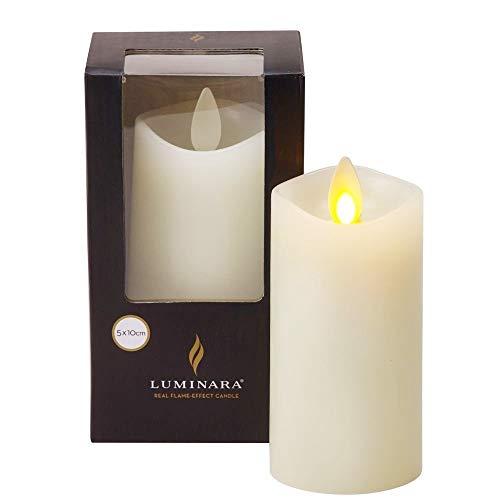 Luminara Mini Pillar Living Flickering Flame Real Wax Candle 4''SALE