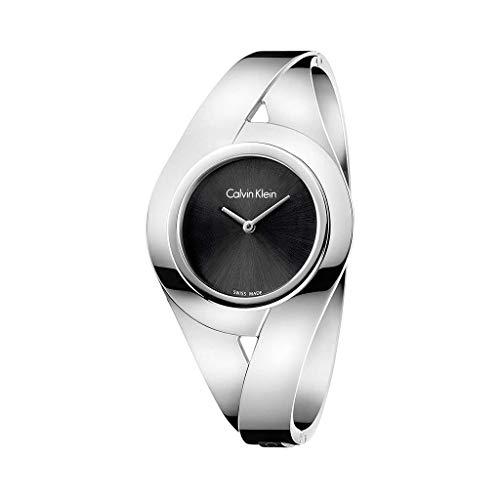 Calvin Klein Damen Analog Quarz Uhr mit Edelstahl Armband K8E2S111