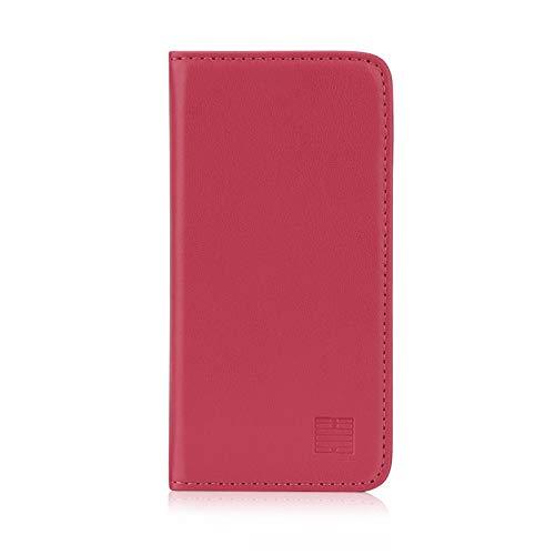 32nd Classic Series - Funda Tipo Libro de Piel Real para Apple iPhone 5 5S SE (2016), Carcasa de Cuero Premium diseñada con Cartera, Cierre Magnetico y Soporte Integrado - Rosa