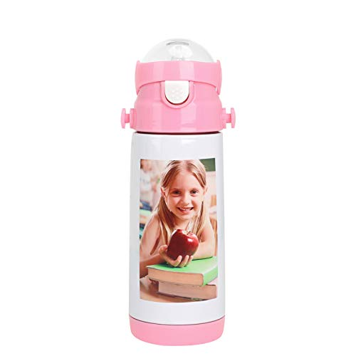 water bottles for kids bpas Kids Portable Personalized Custom Photo Thermos Cup Child Vacuum Insulated Stainless Steel Image Photo Picture DIY Print Water Bottle Sports Travel Hot Cold Drinks Kettle Birthday Gift for Girls Boys