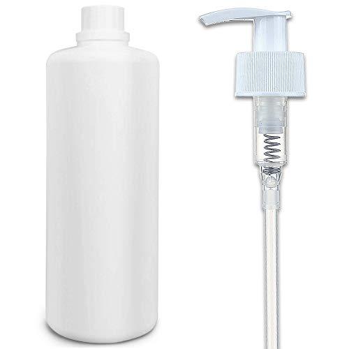 Leerflasche 1 Liter + 1x Dosierspender – lebensmittelecht Qualität – auch für Seife, Reinigungsmittel, Körperpflegeprodukte, Öl, Soßen, Sirup & Getränke