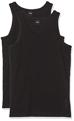BOSS Herren Tank Top 2P CO/EL T-Shirt, Schwarz (Black 1), Large (2er Pack)