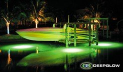Deep Glow Green Underwater Dock Fishing Light (50 Ft)