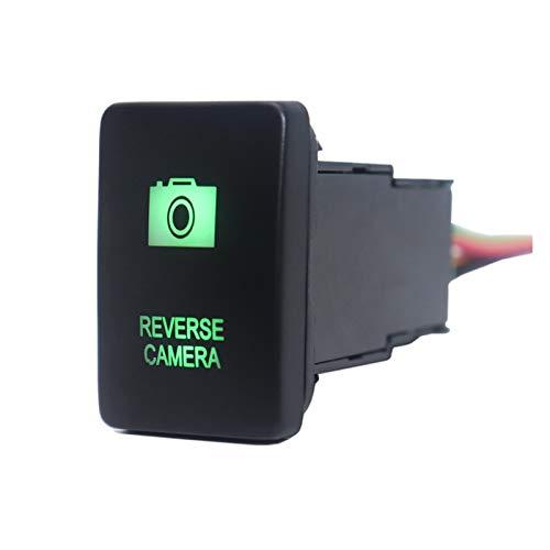 XINXIN LakerBig Batería AUX con 12V / Barra de luz LED/Cámara de inversión Interruptor de botón Push Button Lights Fit para Toyota Hilux Prado Highlander Landcruiser RAV4 (Color : Reverse Camera)