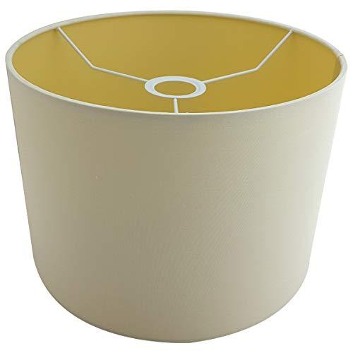 Lampenschirm creme rund Stoff E27 Ø 30cm modern, Ersatzschirm Tischlampe Stehlampe Hängelampe, 79828 Crema Sompex