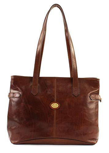 The Bridge Damen Story Donna Shopper, Braun (Brown 14), 37x28x12 cm