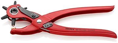 Foto di KNIPEX 90 70 220 Pinza a fustella rossa, verniciata a polvere 220 mm