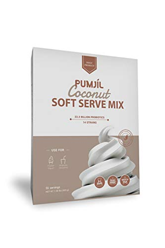 Soft serve ice cream mix, Pumjil Probiotic Soft Serve Mix, Ideal for Frozen Yogurt and Smoothies, Coconut Flavor (55 servings per box)