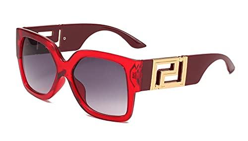 MINGQIMY Gafas de Sol Gafas de Sol cuadradas para Mujer Marca de Lujo Marca Negra Estilos de Verano Gafas de Sol de Gran tamaño para Mujeres UV400 Vidrios de Moda de Moda