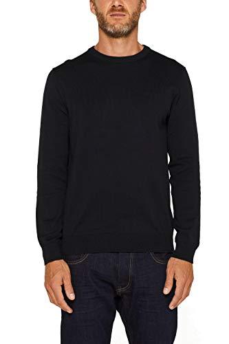 ESPRIT Herren 999Ee2I803 Pullover, Schwarz (Black 001), Large (Herstellergröße: L)