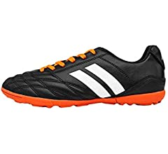 Aiweijia Unisex Kids Outdoor//Indoor Flat Round Toe Lacing Low Top Soccer Shoes