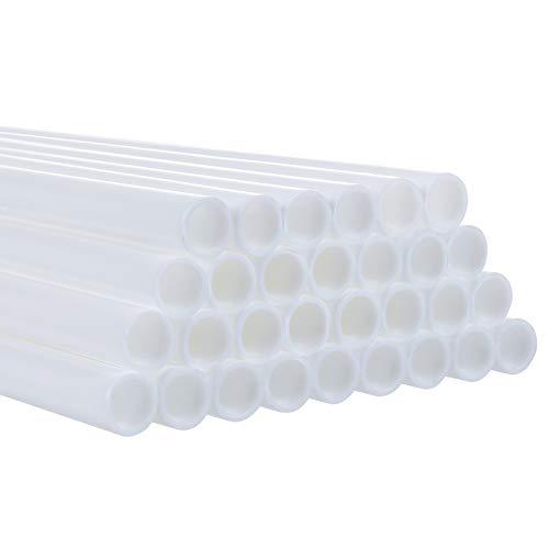 LIHAO 30 x Dübelstangen Kunststoff Tortenstützen 24 cm Kuchenstützen Weiß für Gestuften Kuchenbau und Kunst Handwerk (Mehrweg)