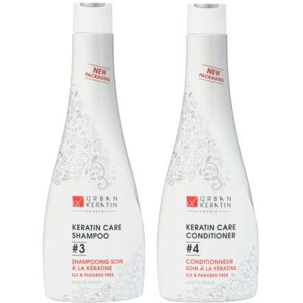 Urban Keratin Kit Duo | Shampoing Sans Sulfate | Kit Shampooing et Soin à la Kératine |...