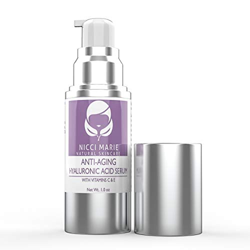 Hyaluronic Acid Serum for Face with Vitamin C & Vitamin E - Anti Aging Serum with 100% Pure Hyaluronic Acid - This Anti Wrinkle Firming Cream Helps Boost Collagen & Reduce Fine Lines & Signs of Aging