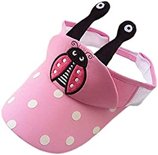 Baby Decoration Hat Toddler Bee Print Empty Top Cap Baby Sunscreen Hat for 0-3 Years (Black) Cute Cap (Color : Pink, Size : 48-52cm)