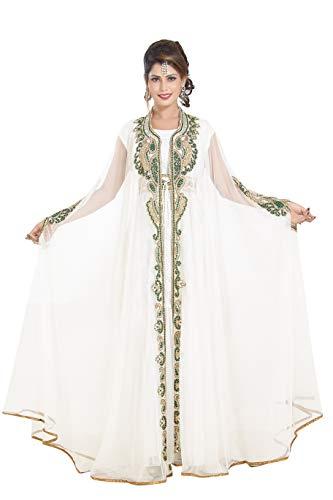 Maxim Creation Moderno Abaya Fancy Vestido de manga larga para novia Farasha...