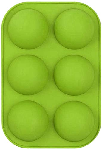 ZWX Medium Semi Sphere Silicone Mold, 2 Packs Half Sphere Silicone Baking Molds for Making Chocolate, Cake, Jelly, Dome Mousse (green) (1pcs)