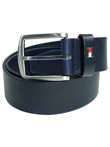 Tommy Hilfiger Herren Gürtel New Denton Belt Blau (85 cm)