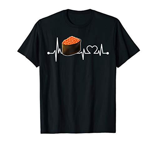 Lachsrogen Herzschlag Hemd Sushi Kochen/Koch für Chef T-Shirt