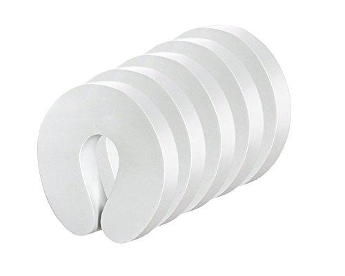 5x Offgridtec® Türstopper Weiß Schaumstoff Klemmschutz Kindersicherung Tür Fenster