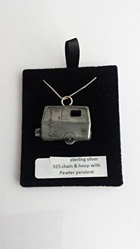 Touring Wohnmobil ref317 Zinn-emblem auf eine echte Halskette 925 sterling Silber mit Kette, 45.72 cm prideindetails Geschenkbox