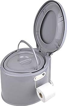 Toilettes de camping - Seau portable avec siège et couvercle - Compost de 7 l