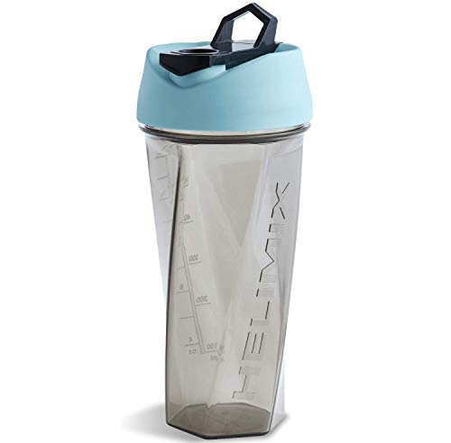 Helimix Vortex Blender Shaker Bottle 28oz | No Blending Ball or Whisk Needed | USA Made | Portable Pre Workout Whey Protein Drink Shaker Cup | Mixes Cocktails Smoothies Shakes | Dishwasher Safe